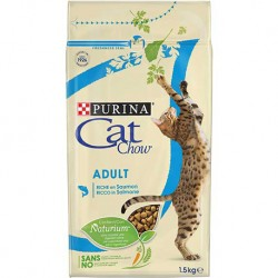 CAT CHOW  ADULT COM SALMÃO 1,5Kg
