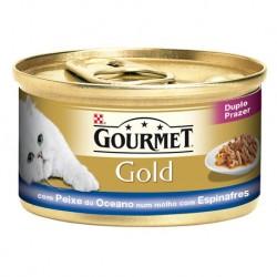 GOURMET GOLD DUPLO PRAZER COM PEIXE DO OCEANO E ESPINAFRES