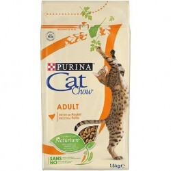CAT CHOW ADULT COM FRANGO 1,5Kg